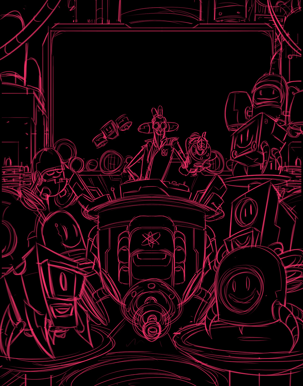 Robot Workshop · 2014 · Victory Screen Sketch