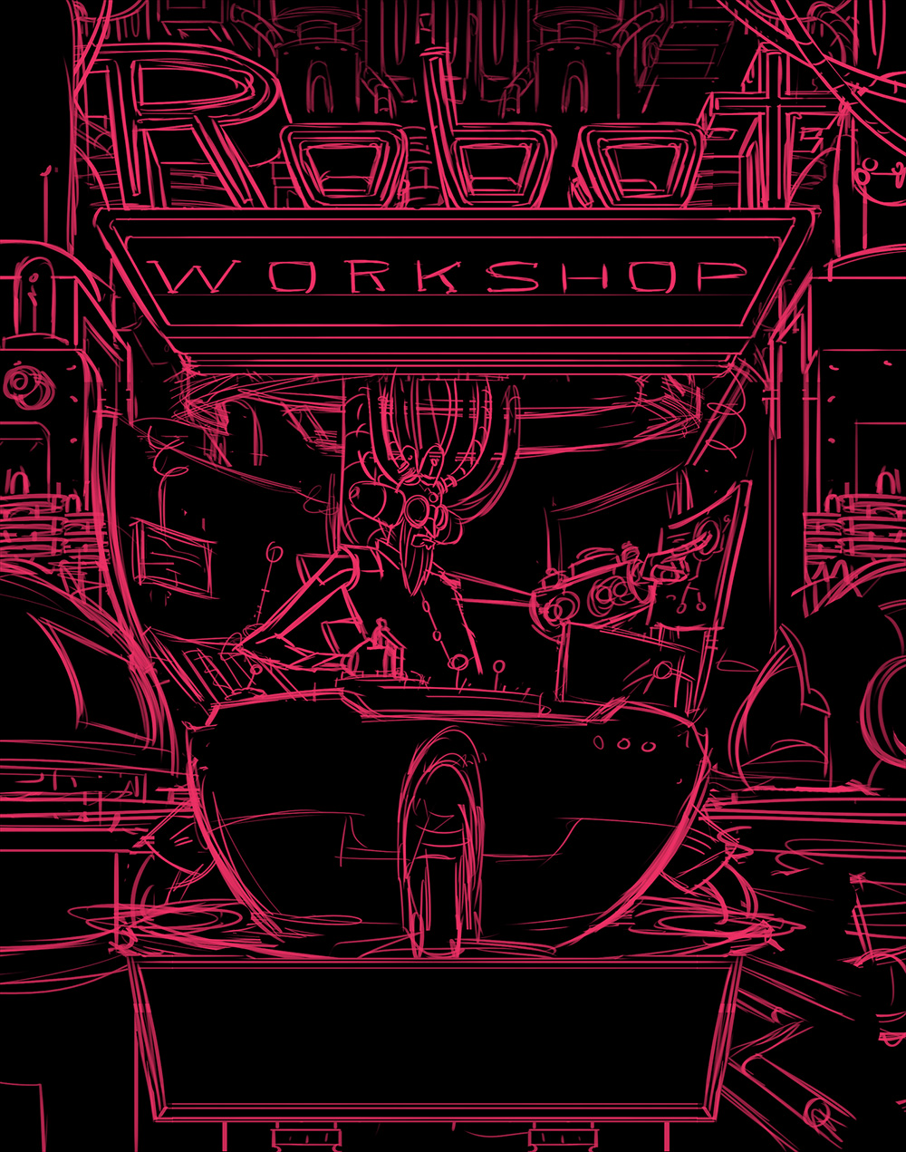 Robot Workshop · 2014 · Title Page Sketch
