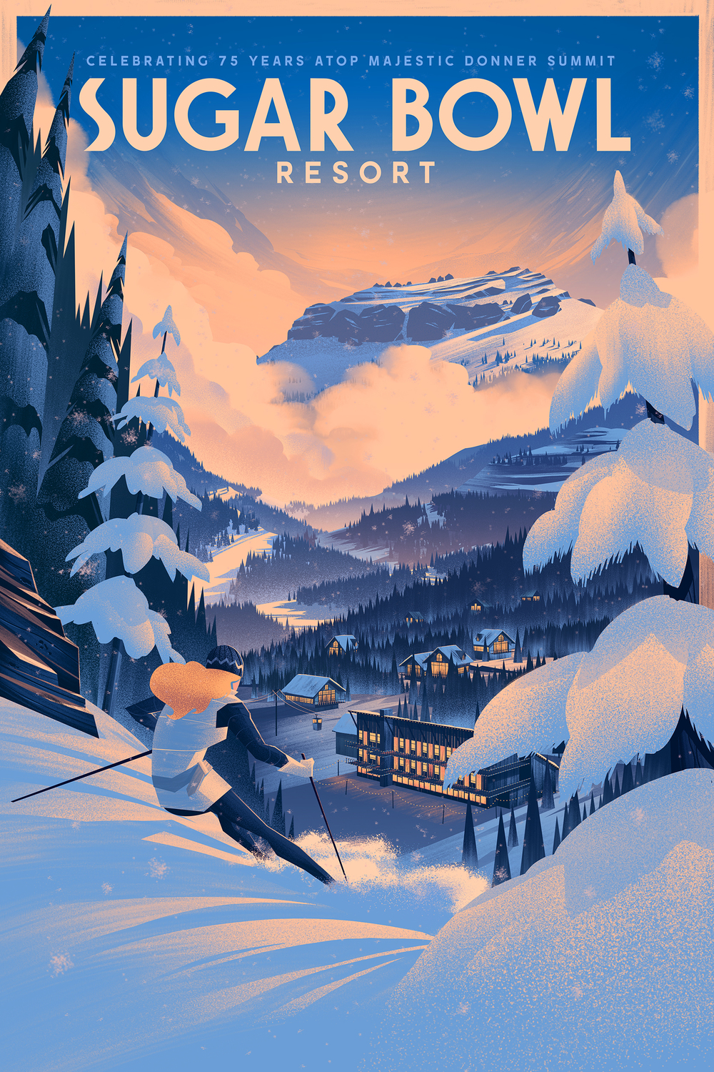 75th Anniversary Poster · Sugar Bowl Resort