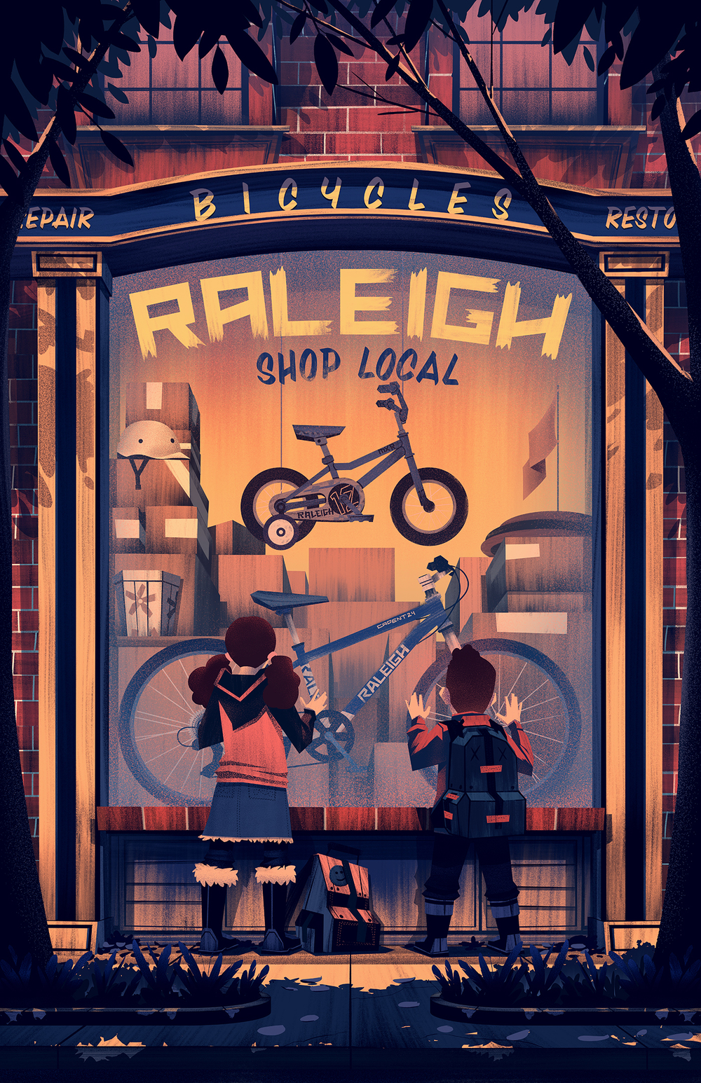 2014 · Raleigh Holiday Poster