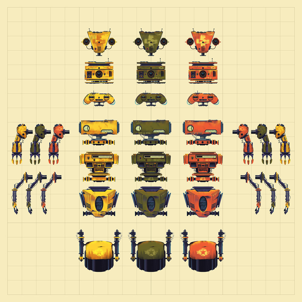 TinyBop   ·  Robot Parts Grid