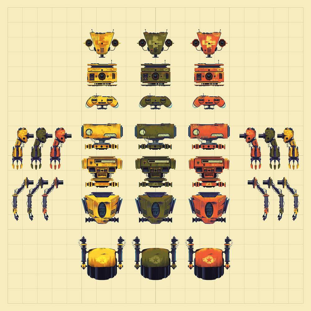 TinyBop·Robot Parts Grid