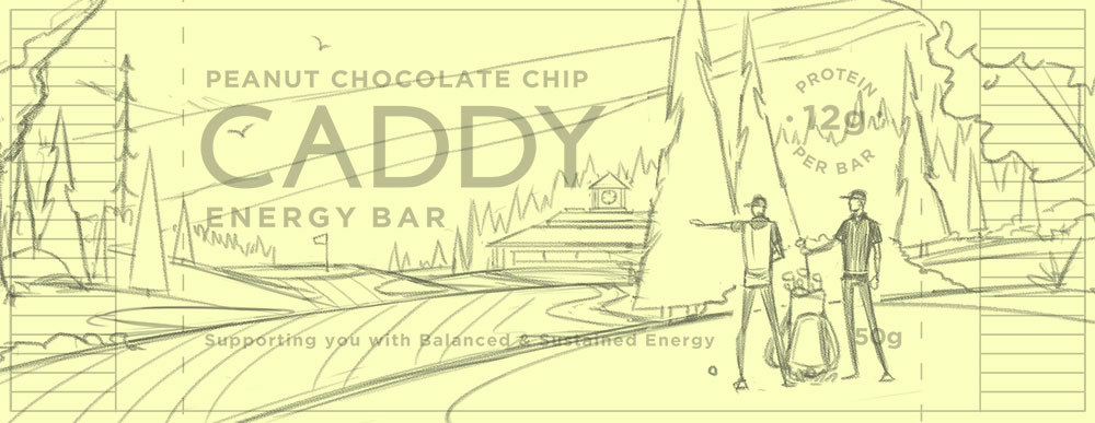 Caddy Bar · Wrapper Sketch