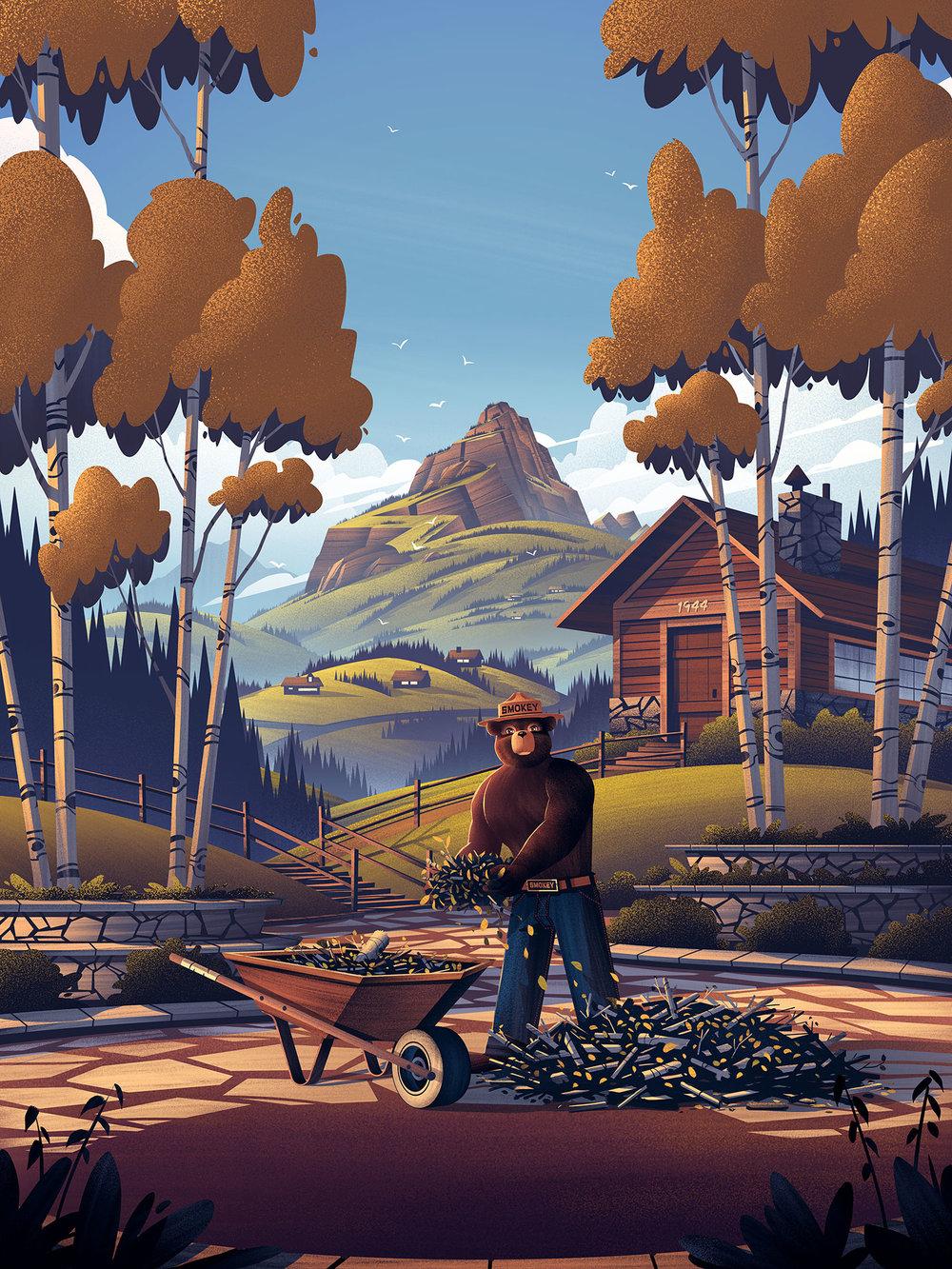Smokey Bear  | Illustration