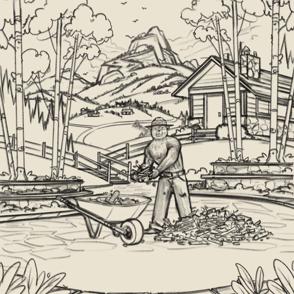 Smokey Bear  | Final Sketch