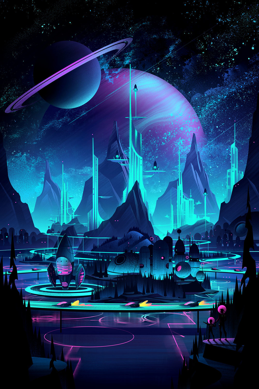 Space Park  · Final Illustration