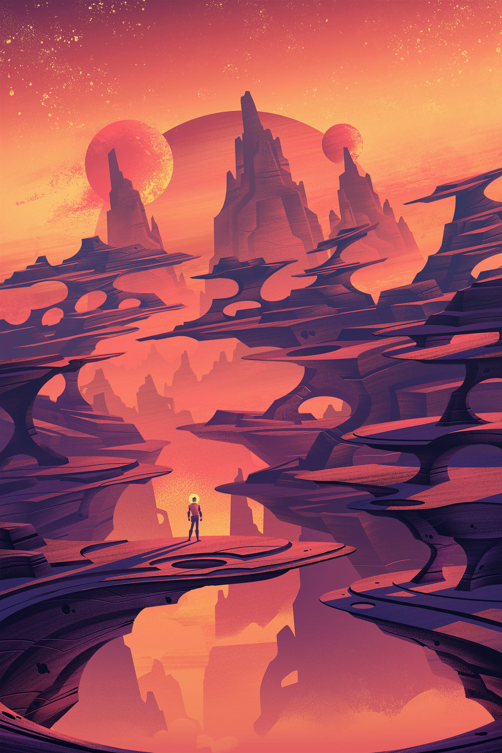 Space Park  ·  Cosmic Canyon  · Final Illustration