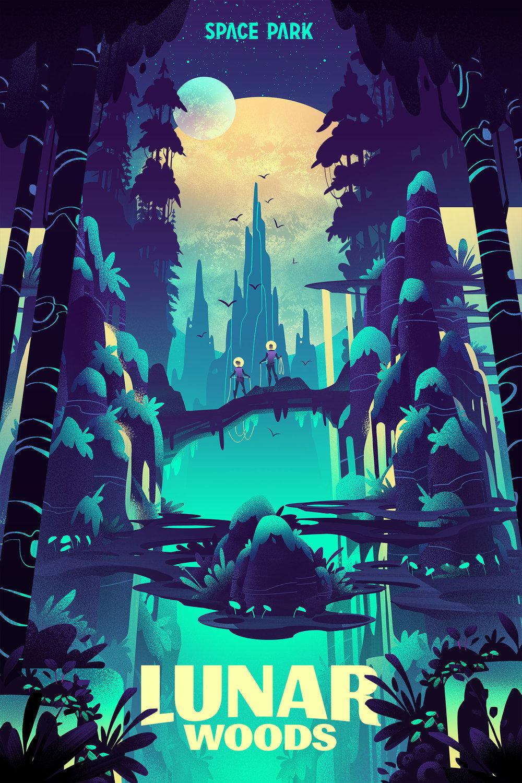 Space Park ·  Lunar Woods  · Type Design by Mattox Shuler