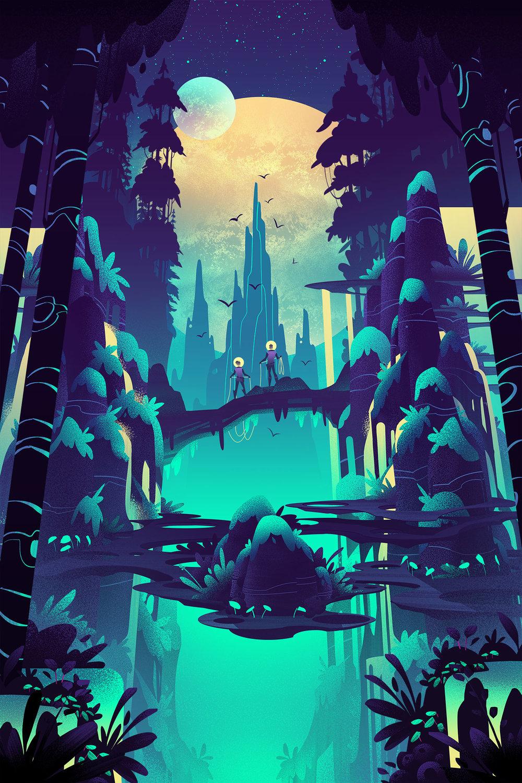 Space Park ·  Lunar Woods  · Final Illustration
