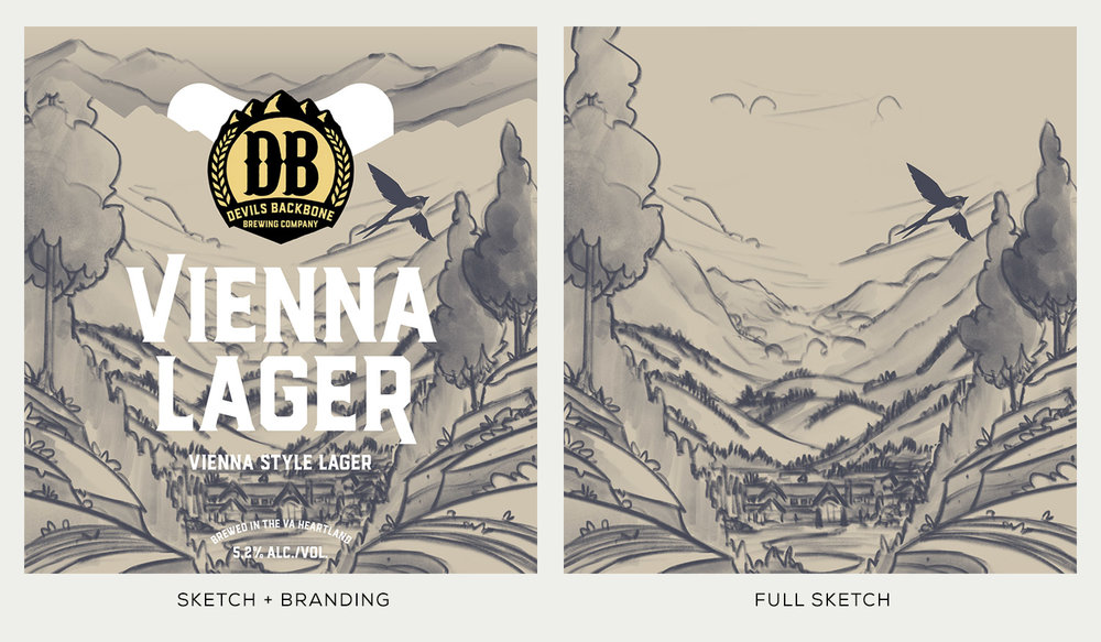 Devils Backbone Brewing Co.  · Vienna Lager Sketches