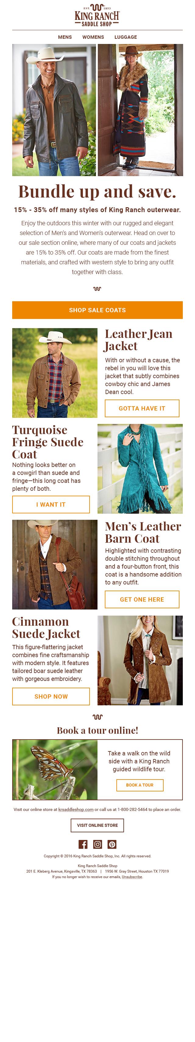 - Outerwear Sale E-Mail