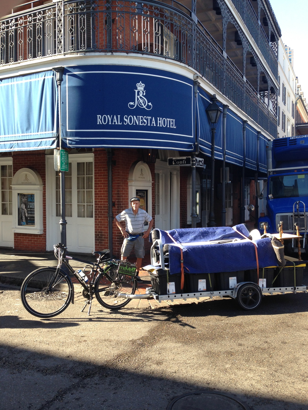John with our first load at the Royal Sonesta Hotel.  We did not take a picture of the second load.