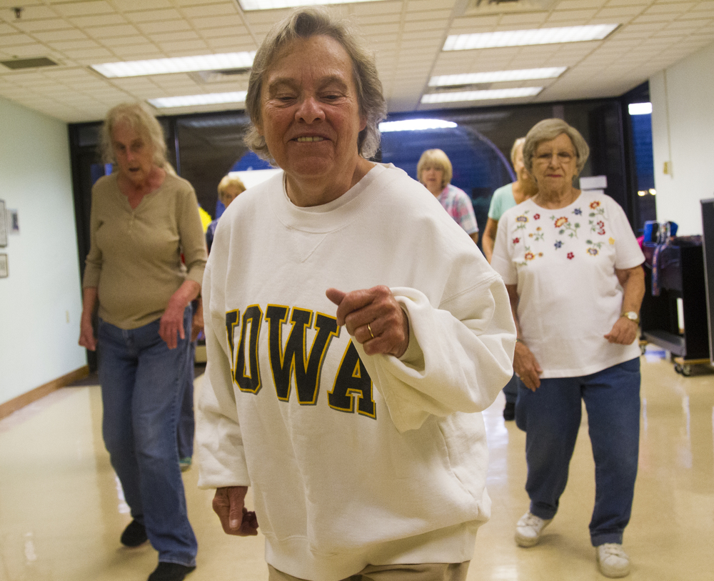 At 11a.m. of Sept. 24, 2014, Ginny Mullatten,71, is giving a dance lesson at the Centre Region Senior Center, which located at S Fraser St, State College, Pa.