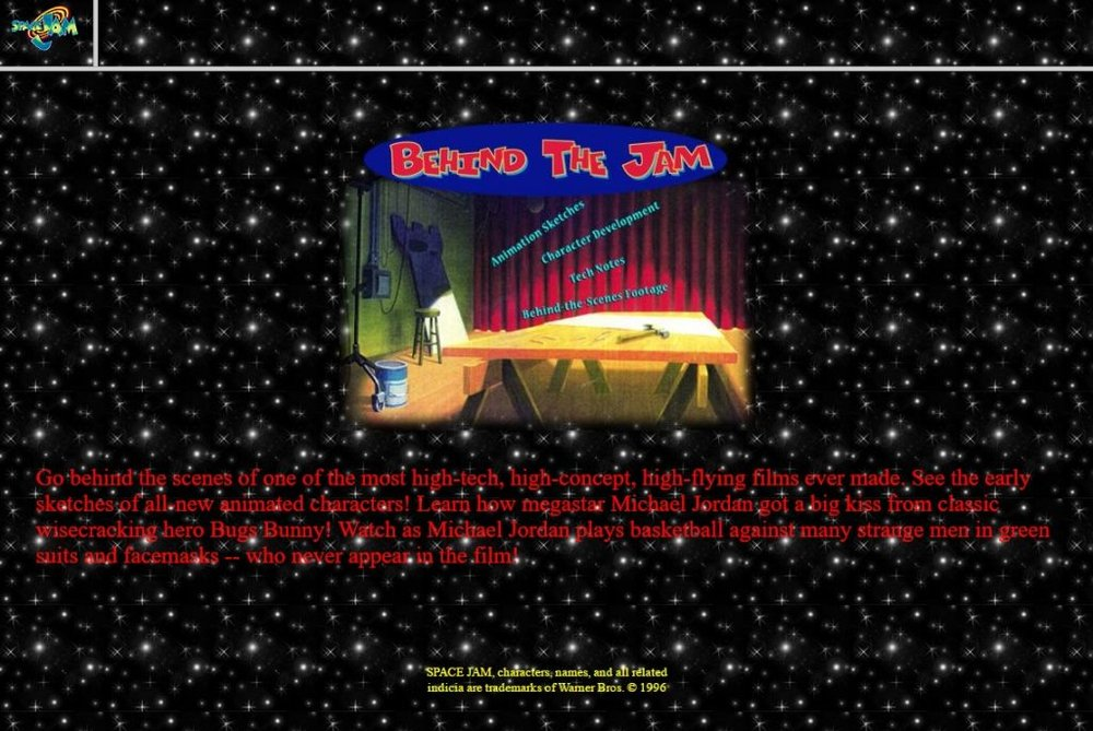 90s website_behind the jam