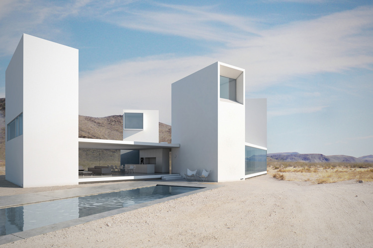 four eyes house modern residential architecture in the coachella