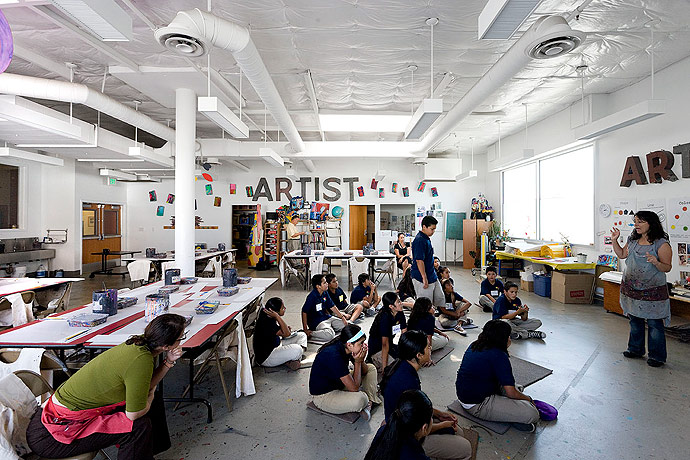 inner city arts: los angeles nonprofit school campus 9