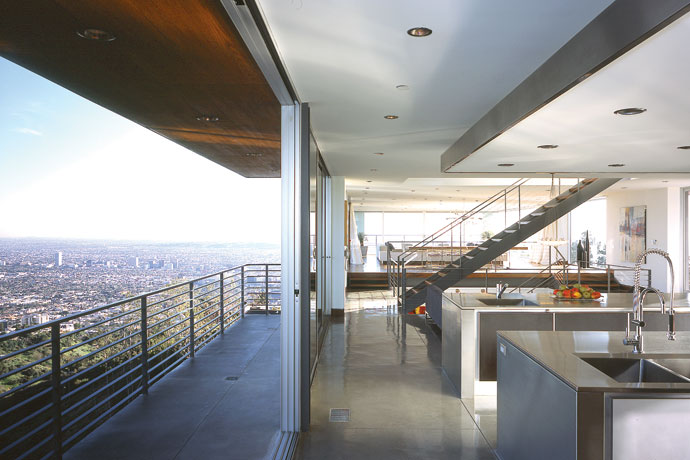 blue jay way residence: modern architecture in hollywood hills los angeles 3