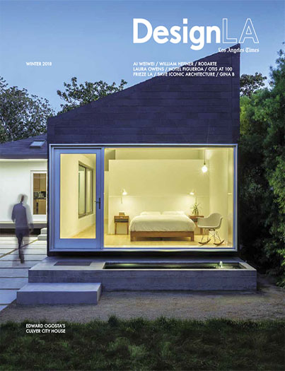 "Los Angeles Times | DesignLA Magazine  Winter 2018  ""Manipulating Light and Space, Architect Edward Ogosta Redeems a Plain Culver City Bungalow"" by Kelly Vencill Sanchez  Cover story: Rear Window House   read more"