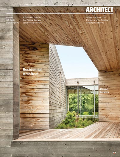 "Architect Magazine  December 2018  ""Residential Architect Design Awards 2018"" by Katie Gerfen, et. al.  Project Feature: Rear Window House   read more"
