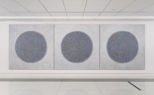 "Richard Pousette-Dart Presence, Healing Circles, 1973-74 Acrylic on canvas, 84"" x 84"""