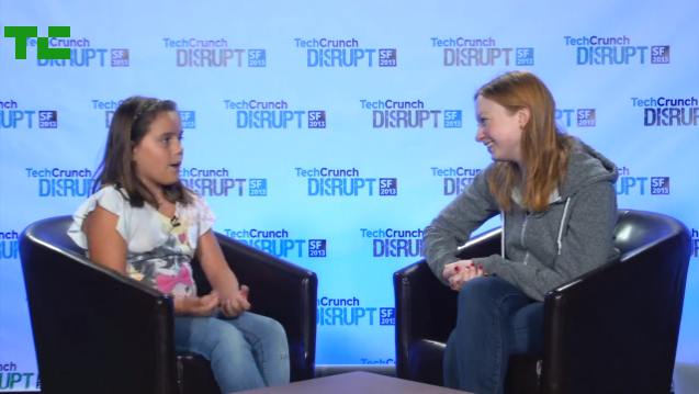 Alexandra, who is currently learning to program in Ruby and HTML with the help of her dad and Codecademy, joined me backstage to talk a bit more about Super Fun Kid Time and her Hackathon experience. (TechCrunch).