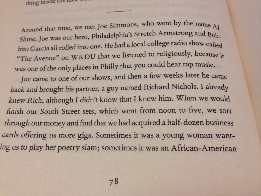 Would The Roots have ever become THE ROOTS if it weren't for WKDU?? Photo of Questlove's book Mo Meta Blues.
