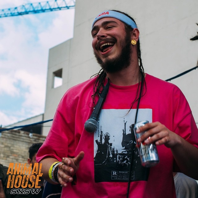 Post Malone at the Animal x House SXSW showcase