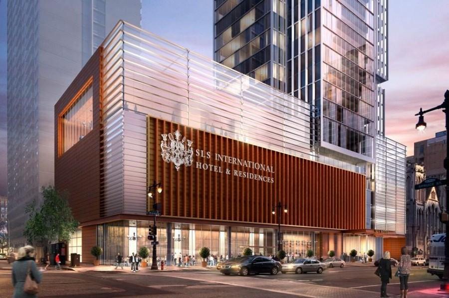 Rendering of the new SLS Lux Hotel & Residencies on Broad Street opening 2017