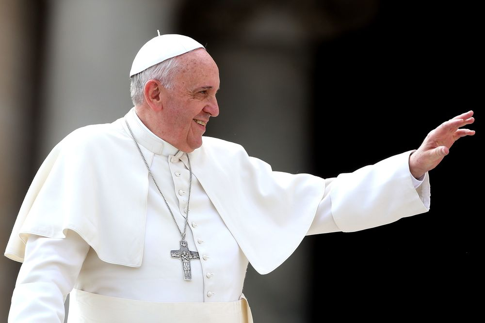 Even Pope is hopping on the Philly bandwagon: he'll be here in October for the World Meeting of Families. Photo courtesy of Getty Images
