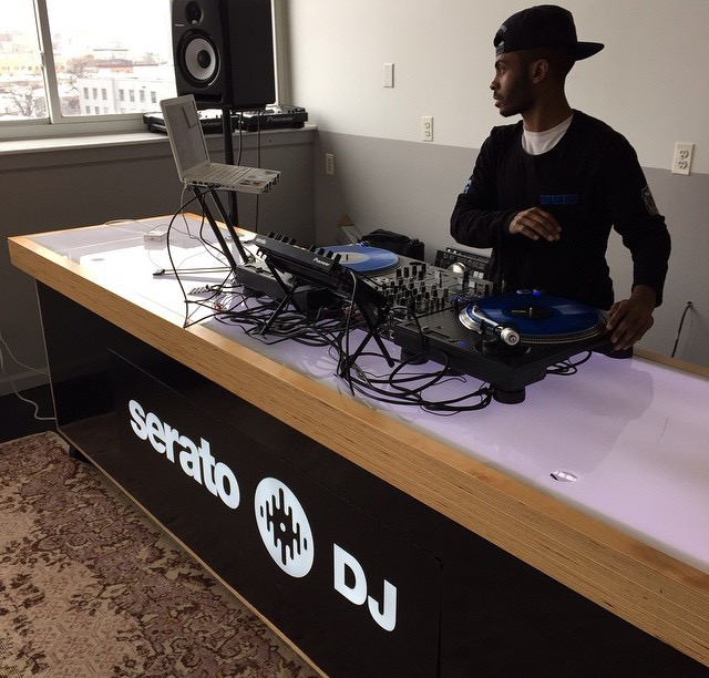 DJ  Quite Hype showcasing the new music coming out of Philly forthe Serato head office in New York