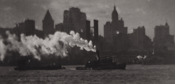 Tug and New York Skyline