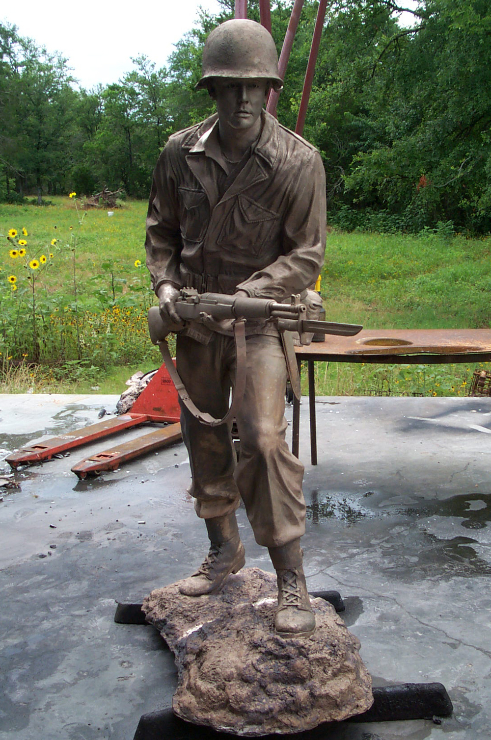 World War II Soldier Monument, 10th Mountain Division, US Army, Camp Swift TX