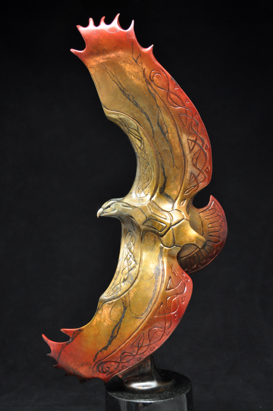 Bronze Eagle Sculpture by John Maisano
