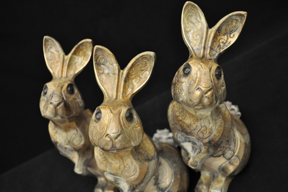 Bronze Rabbit Sculptures by John Maisano