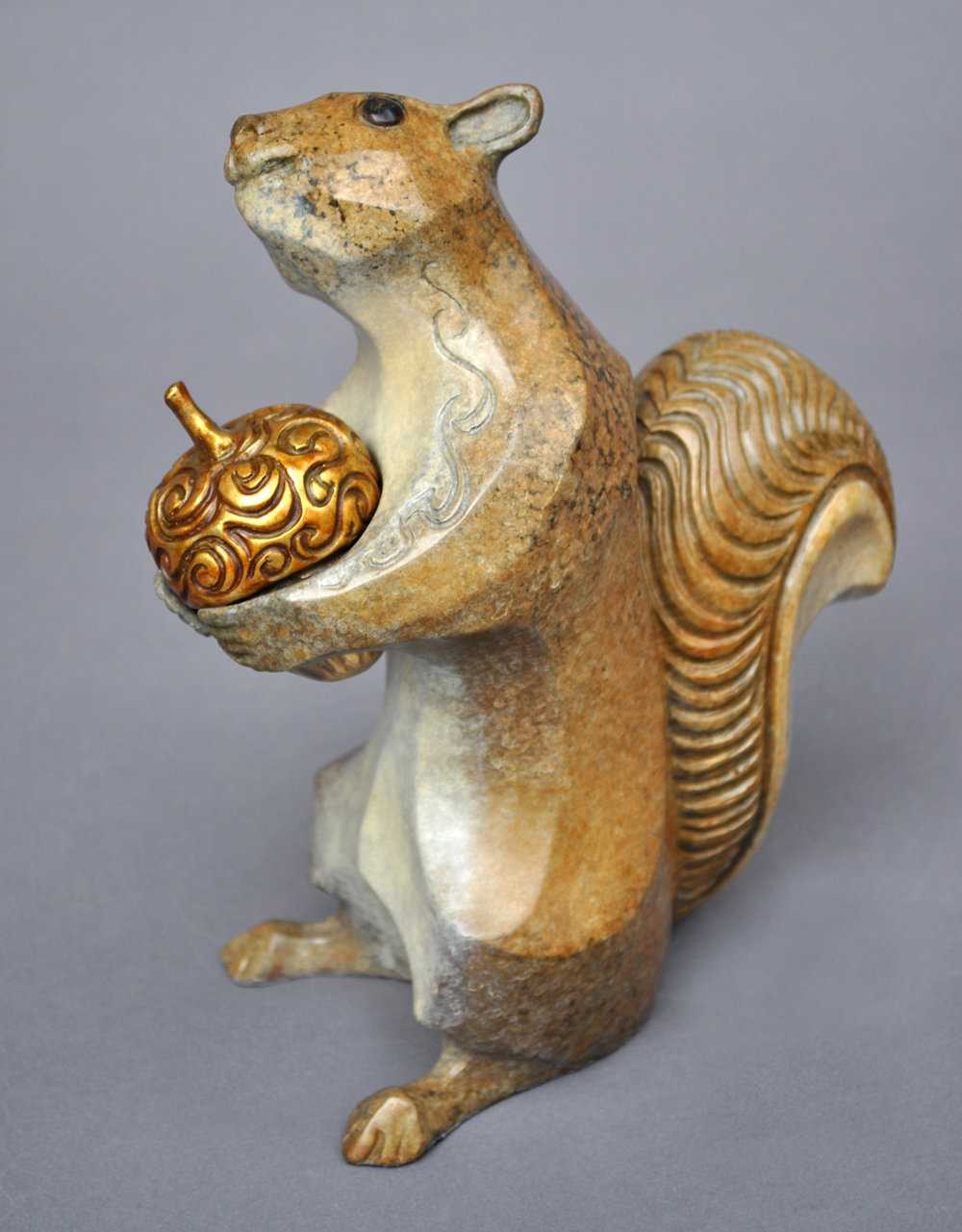 bronze squirrel sculpture john maisano 5