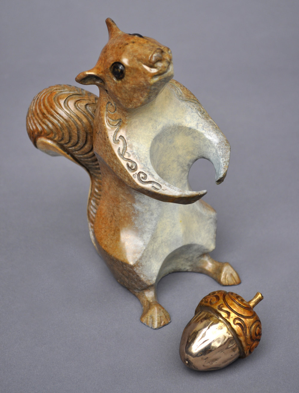 bronze squirrel sculpture john maisano 8