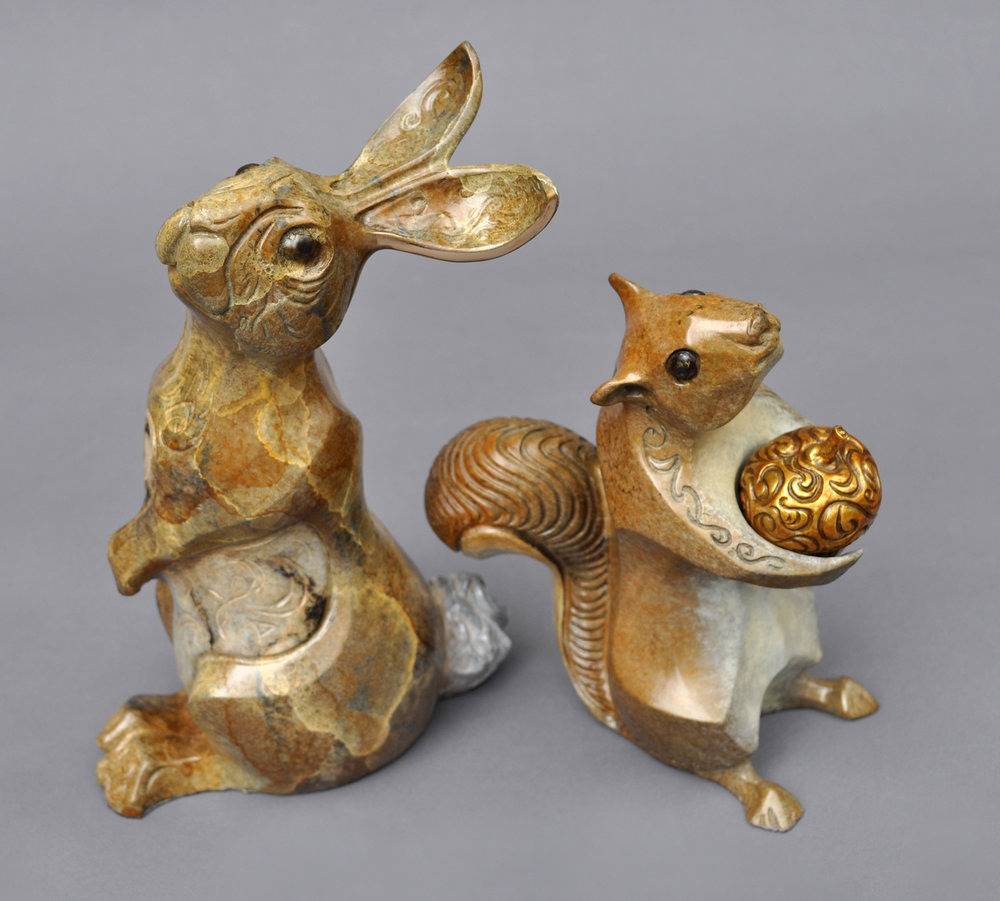 bronze squirrel sculpture john maisano 10