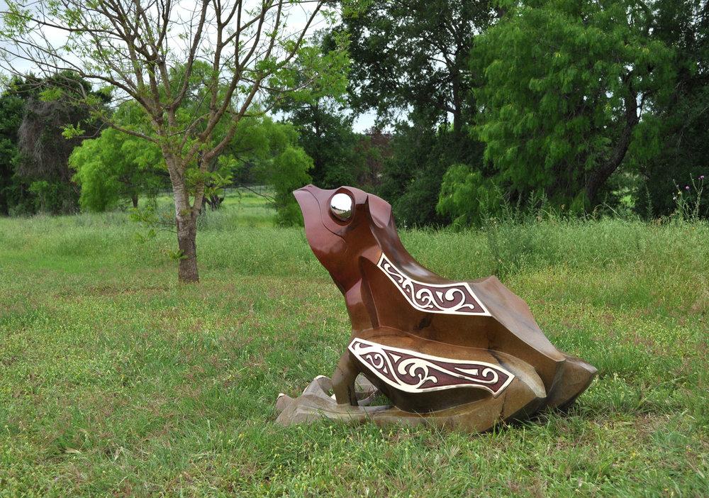 """Garden Frog Sculpture - """"Garden Prince"""""""