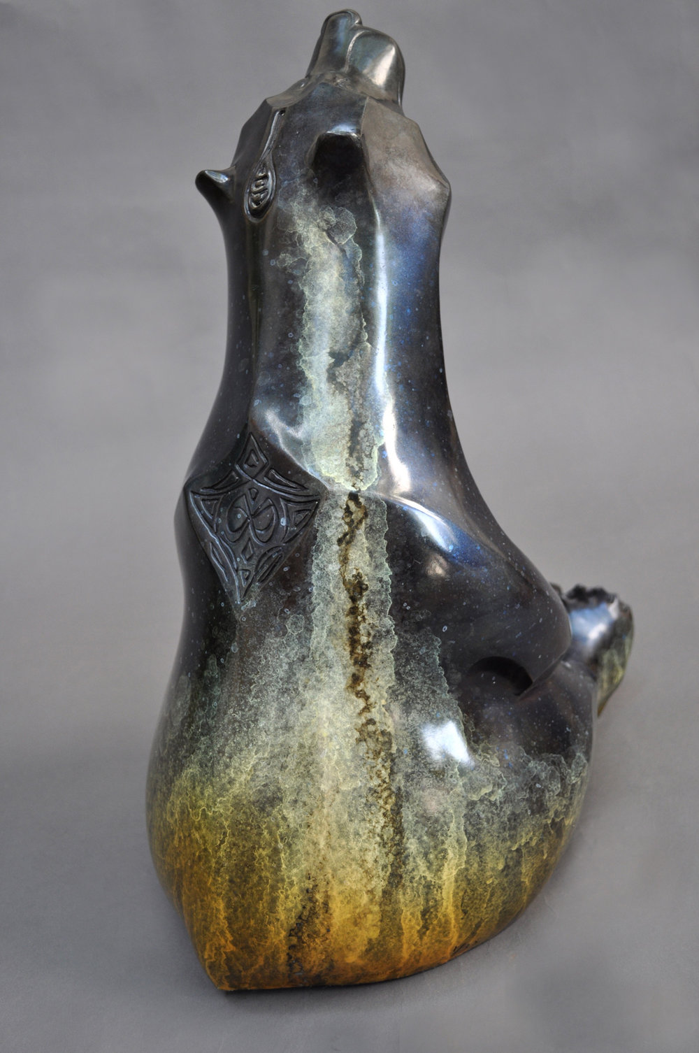 Bronze Bear Sculpture Orion John Maisano