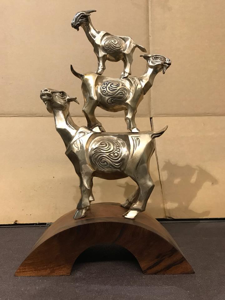 bronze goat sculpture by john maisano - 1.jpg