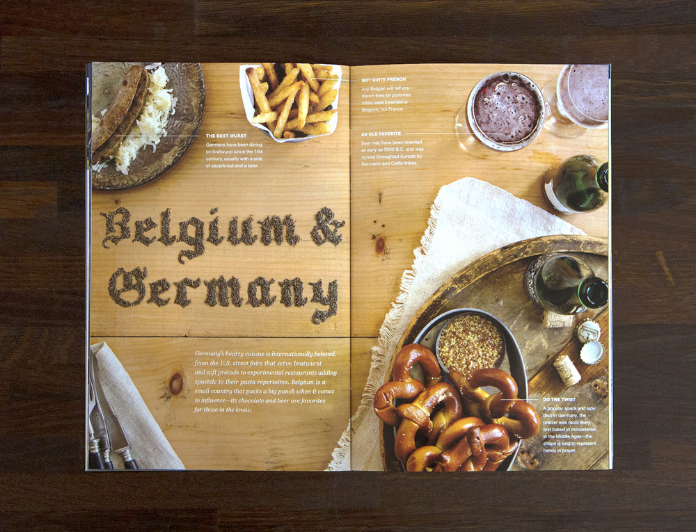 Belgium and Germany tabletop spread (click to enlarge)