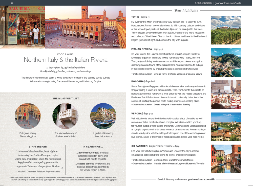 Italy tour detail page (click to enlarge)