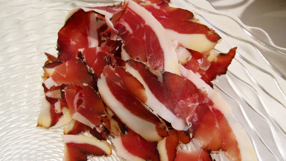 Bio-dynamic ham, sliced