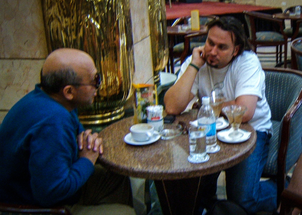 Meeting with legendary Egyptian film director Samir Seif in Cairo.