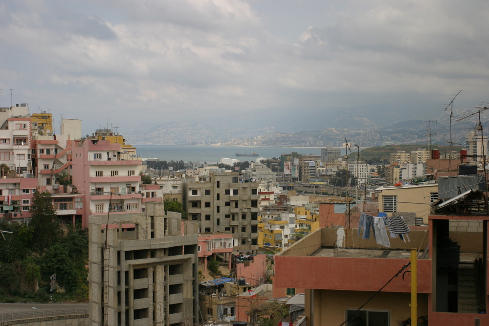 Beirut, Lebanon as seen from the hills of Ashrafiyeh