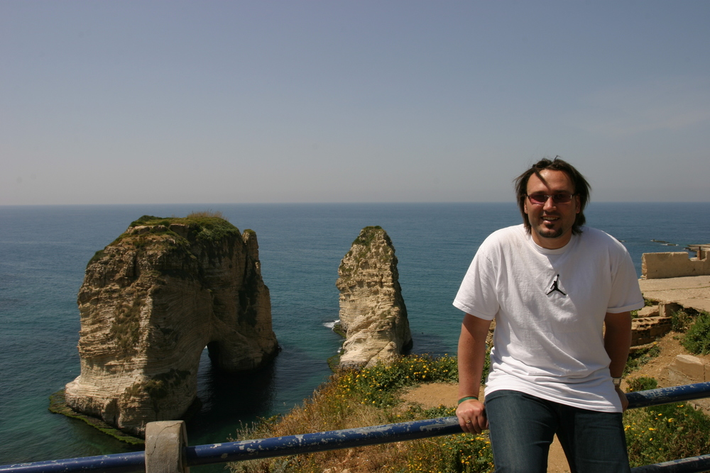 Andrew on the waterfront in Beirut, Lebanon