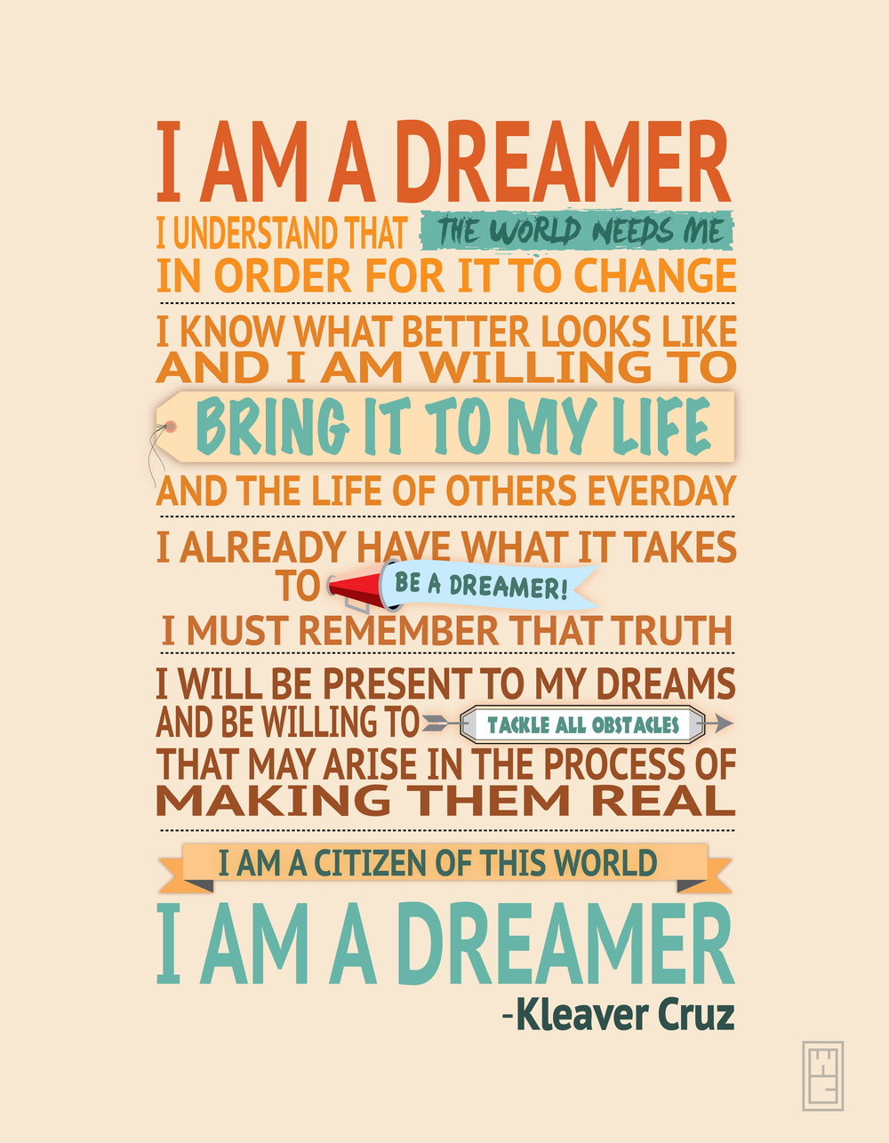I am a Dreamer Typography- Kleaver Cruz.jpg