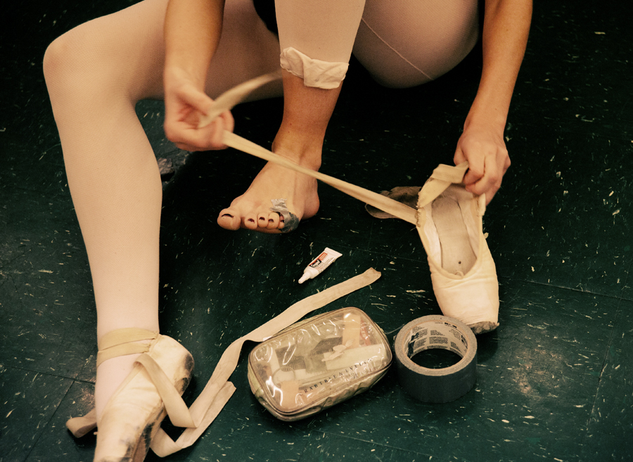 Ballet requires support.  Glendale, CA.  2012
