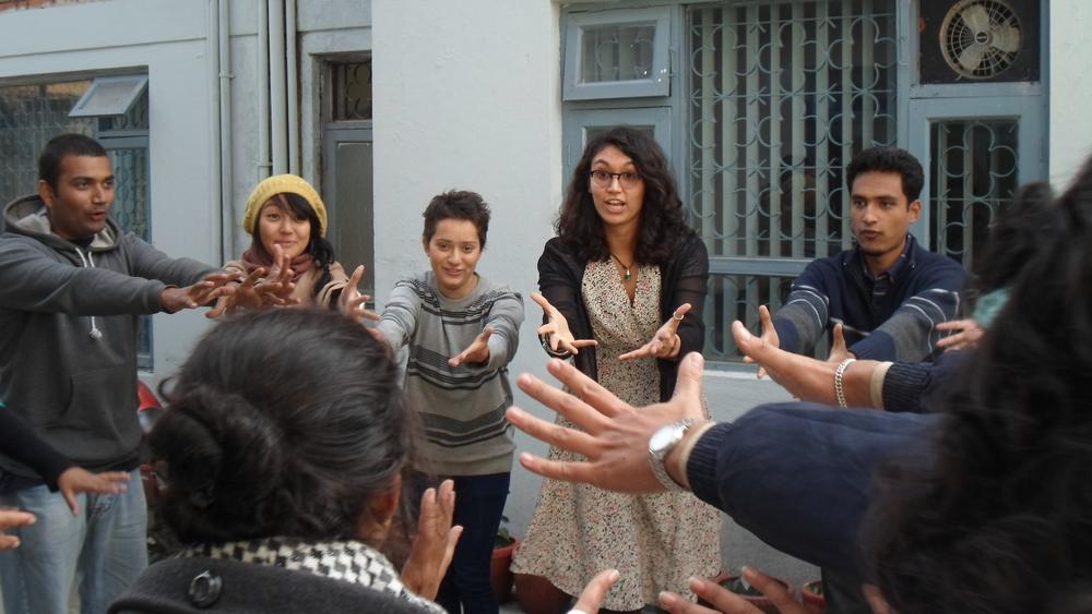 Sarah Kay and the Word Warriors, Kathmandu. Photo credit: Ujjwala Maharjan