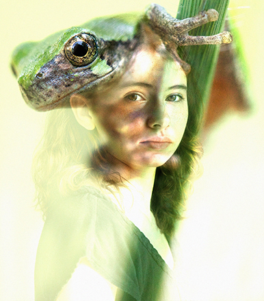 """Lois and Tree Frog"" - Digital Photographic Collage"